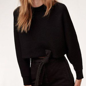 WILFRED Lolan Cropped Sweater Black